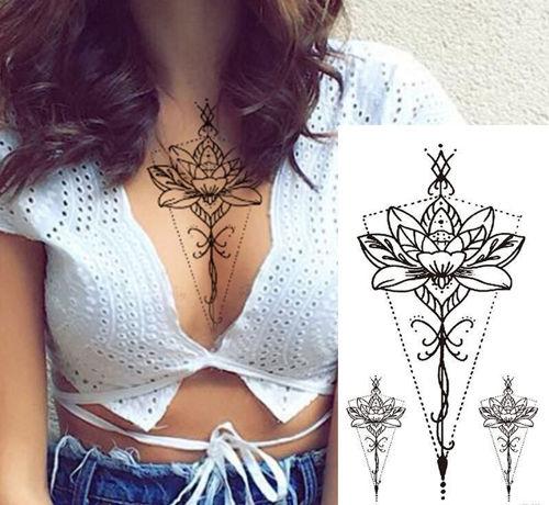 tatouage éphémère fleur de lotus