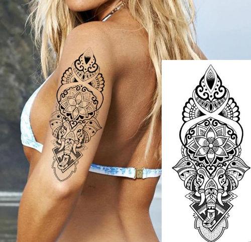 tatouage éphémère ganesh