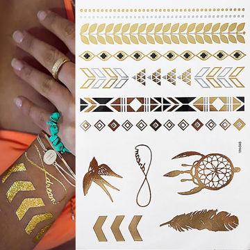 tatouage éphémère bracelet doré