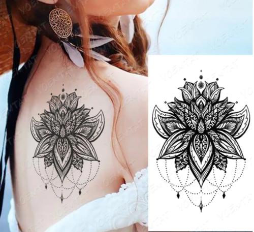 faux tatouage fleur effet bijou