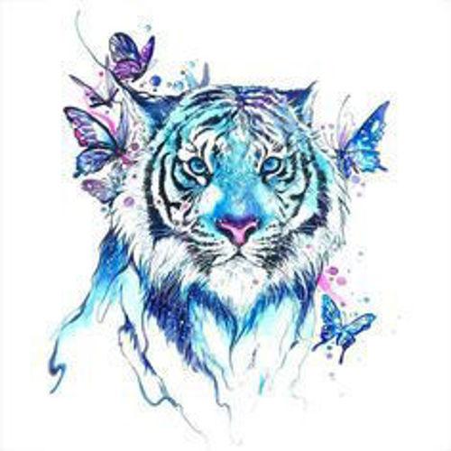 faux tatouage tête de tigre