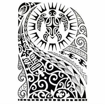 tatouage temporaire maori tortue