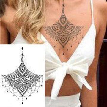 tatouage éphémère underboobs mandala