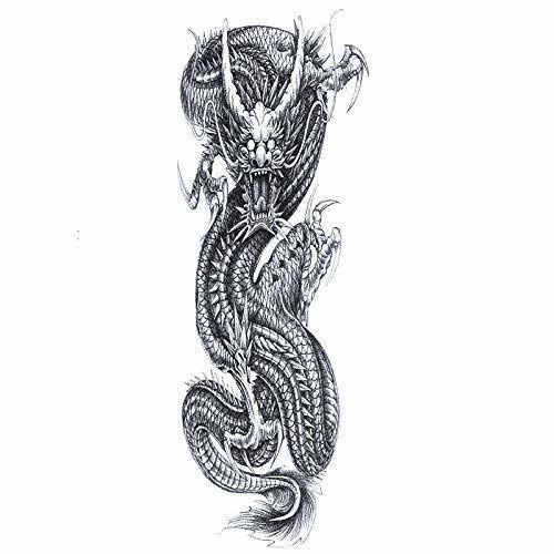 tatouage éphémère dragon bras entier