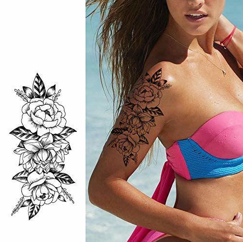 faux tatouage fleur