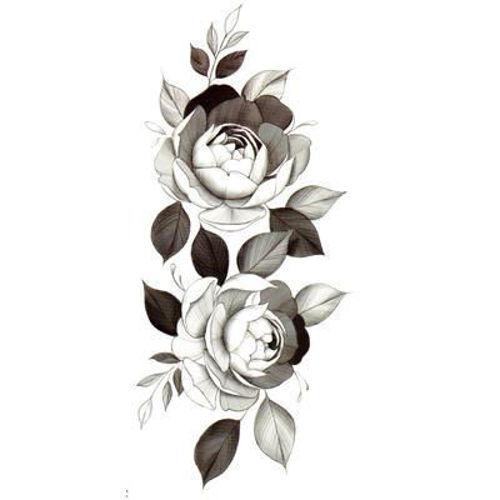 tatouage temporaire fleur de pivoine