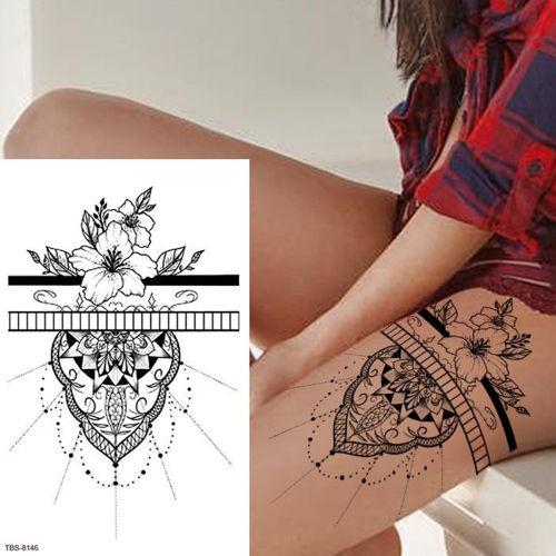 tatouage éphémère femme fleur