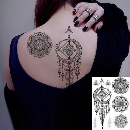 tatouage éphémère femme mandala