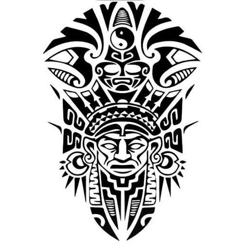 tatouage éphémère maori totem