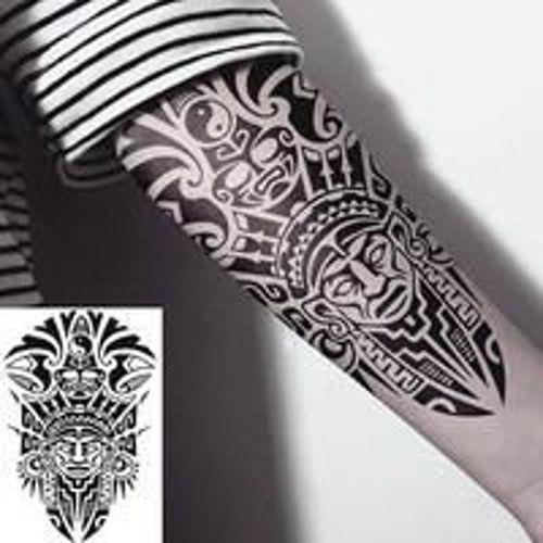 tatouage éphémère maori totem 1