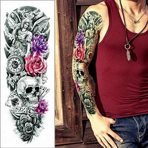 tatouage éphémère manchette tête de mort