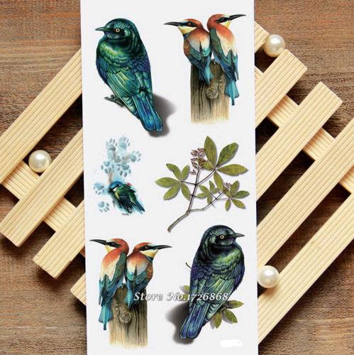 tatouage éphémère oiseaux