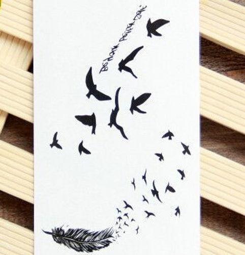 tatouage éphémère les oiseaux qui s'envolent
