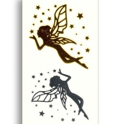 tatouage éphémère les deux anges