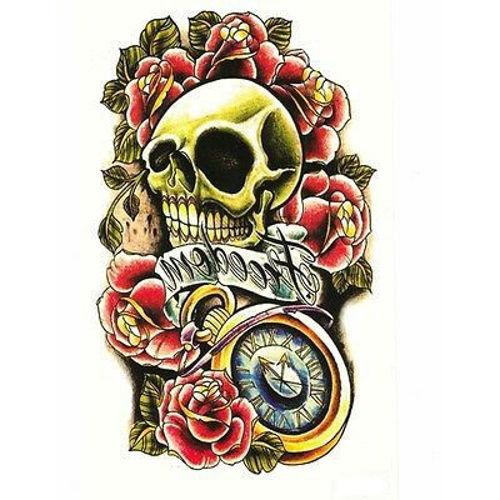 tatouage éphémère tête de mort