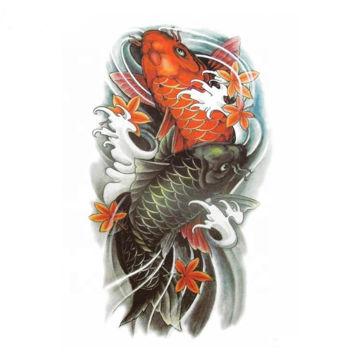 tatouage temporaire carpes japonaises  colorées