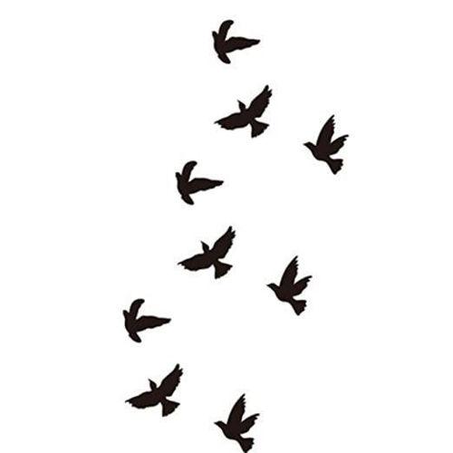 tatouage éphémère oiseau qui s'envole