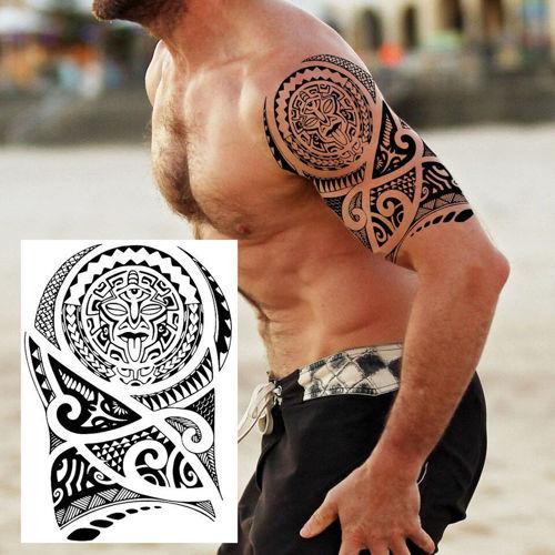 tatouage éphémère tribal maori