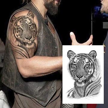 tatouage éphémère tête de tigre